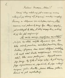 Rękopis artykułu wstępnego Ignacego Daszyńskiego
