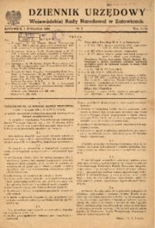 Dziennik Urzędowy Wojewódzkiej Rady Narodowej w Katowicach, 1951, nr1