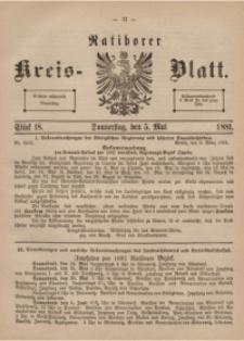 Ratiborer Kreis-Blatt, 1881, Stück 18