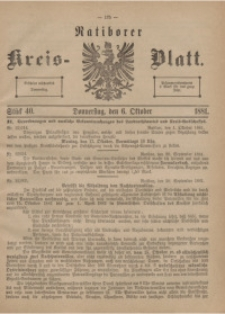 Ratiborer Kreis-Blatt, 1881, Stück 40