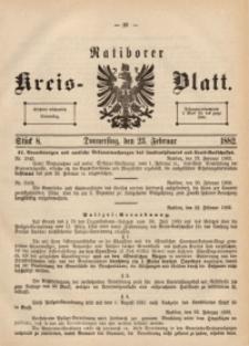 Ratiborer Kreis-Blatt, 1882, Stück 8