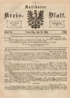 Ratiborer Kreis-Blatt, 1882, Stück 21