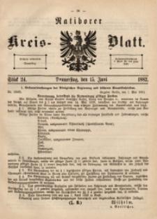 Ratiborer Kreis-Blatt, 1882, Stück 24
