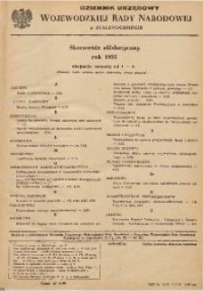 Dziennik Urzędowy Wojewódzkiej Rady Narodowej w Stalinogrodzie. Skorowidz alfabetyczny, rok 1955