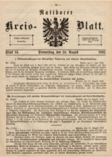 Ratiborer Kreis-Blatt, 1882, Stück 34