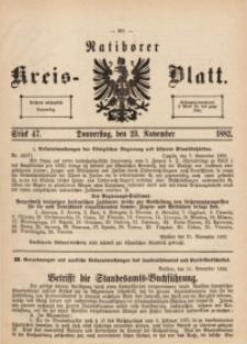 Ratiborer Kreis-Blatt, 1882, Stück 47