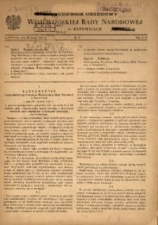Dziennik Urzędowy Wojewódzkiej Rady Narodowej w Katowicach, 1957, nr1