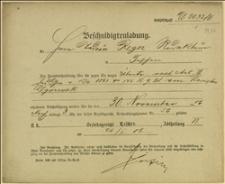 Wezwanie Sądu Powiatowego w Cieszynie z dnia 23.11.1906 r. na dzień 30.11.1906 r.