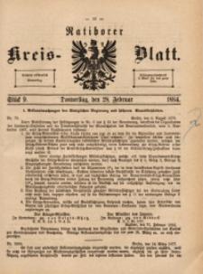 Ratiborer Kreis-Blatt, 1884, Stück 9