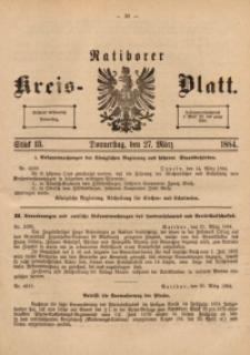 Ratiborer Kreis-Blatt, 1884, Stück 13