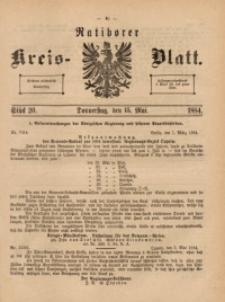Ratiborer Kreis-Blatt, 1884, Stück 20