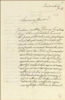 Prośba Adeli Święcickiej o udzielenie poparcia przez Tadeusza Regera w staraniach o zapomogę - Radomsk, 06.02.1919 r.