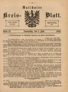 Ratiborer Kreis-Blatt, 1884, Stück 23