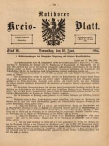 Ratiborer Kreis-Blatt, 1884, Stück 26
