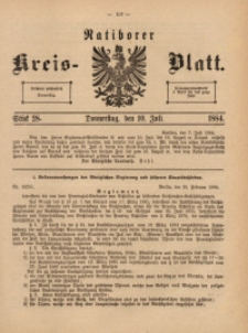 Ratiborer Kreis-Blatt, 1884, Stück 28