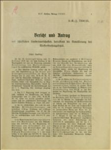 Uchwała dotycząca nowelizacji ustawy o drogach wodnych, podjęta na 23 posiedzeniu Sejmu Śląskiego z 19.12.1912 r.