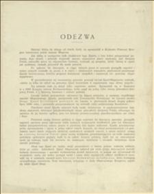 """Odezwa """"Komitetu Drugiego Zjazdu historyków polskich"""" o zwołaniu Zjazdu w drugiej połowie lipca 1890 r. we Lwowie - Lwów, 10.1889 r."""