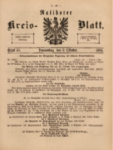 Ratiborer Kreis-Blatt, 1884, Stück 41