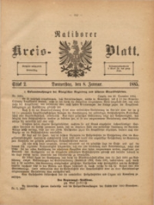 Ratiborer Kreis-Blatt, 1885, Stück 2