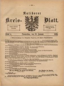 Ratiborer Kreis-Blatt, 1885, Stück 4