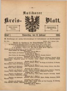 Ratiborer Kreis-Blatt, 1885, Stück 7