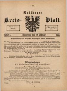 Ratiborer Kreis-Blatt, 1885, Stück 8