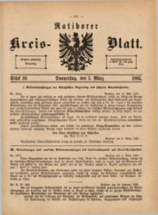 Ratiborer Kreis-Blatt, 1885, Stück 10