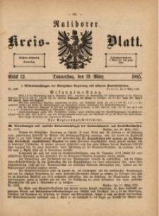 Ratiborer Kreis-Blatt, 1885, Stück 12