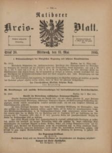 Ratiborer Kreis-Blatt, 1885, Stück 20