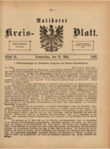 Ratiborer Kreis-Blatt, 1885, Stück 21
