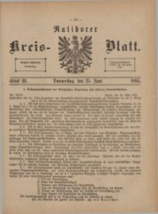 Ratiborer Kreis-Blatt, 1885, Stück 26