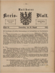Ratiborer Kreis-Blatt, 1885, Stück 34