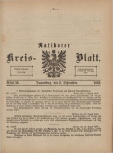 Ratiborer Kreis-Blatt, 1885, Stück 36