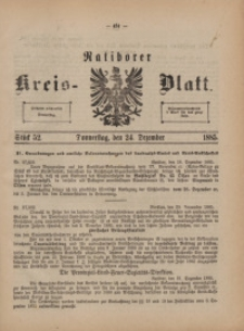 Ratiborer Kreis-Blatt, 1885, Stück 52
