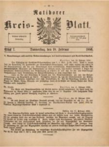 Ratiborer Kreis-Blatt, 1886, Stück 7