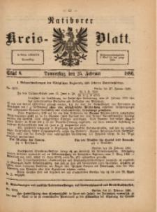 Ratiborer Kreis-Blatt, 1886, Stück 8