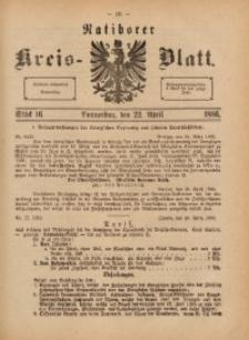 Ratiborer Kreis-Blatt, 1886, Stück 16