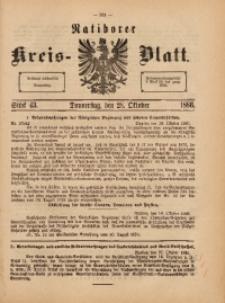 Ratiborer Kreis-Blatt, 1886, Stück 43