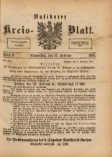 Ratiborer Kreis-Blatt, 1887, Stück 6
