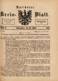 Ratiborer Kreis-Blatt, 1887, Stück 17