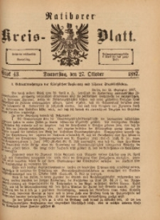 Ratiborer Kreis-Blatt, 1887, Stück 43