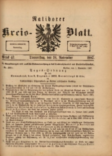 Ratiborer Kreis-Blatt, 1887, Stück 47