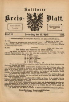 Ratiborer Kreis-Blatt, 1888, Stück 16