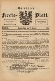 Ratiborer Kreis-Blatt, 1888, Stück 32