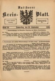 Ratiborer Kreis-Blatt, 1888, Stück 38