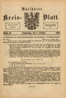 Ratiborer Kreis-Blatt, 1888, Stück 40