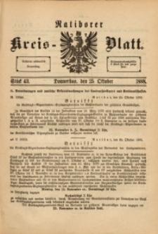 Ratiborer Kreis-Blatt, 1888, Stück 43