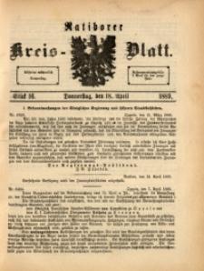 Ratiborer Kreis-Blatt, 1889, Stück 16