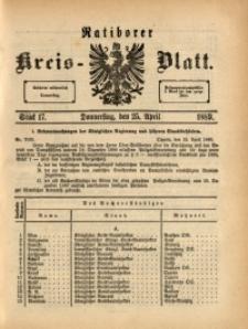 Ratiborer Kreis-Blatt, 1889, Stück 17
