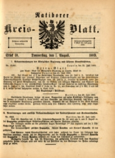 Ratiborer Kreis-Blatt, 1889, Stück 31